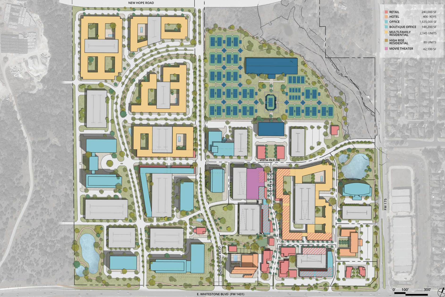 indigo ridge masterplan cedar park growth