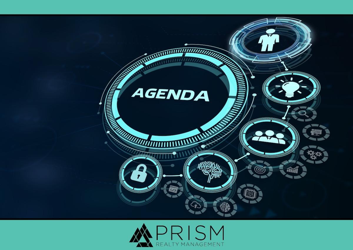 Prism Realty Management - Sample HOA Community Meeting Agenda - HOA Meeting Agendas - HOA Agenda Templates - Texas HOA Meeting Agenda - Austin Association Management